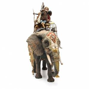 Elefante con Rey y siervo belén Angela Tripi 30 cm s4