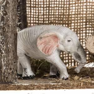 Elefante sotto la tenda ambientazione 8-10 cm s5