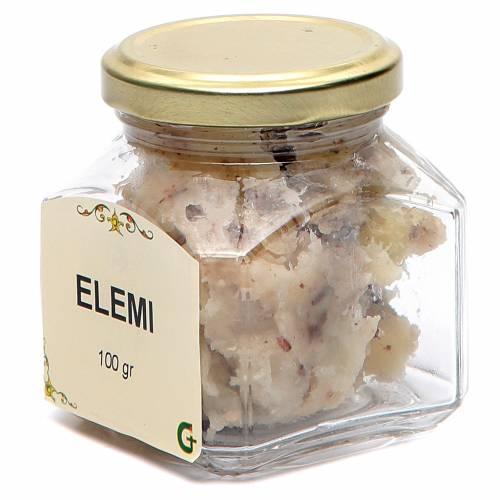 Elemi, aromatic resin in glass jar, 100gr s2
