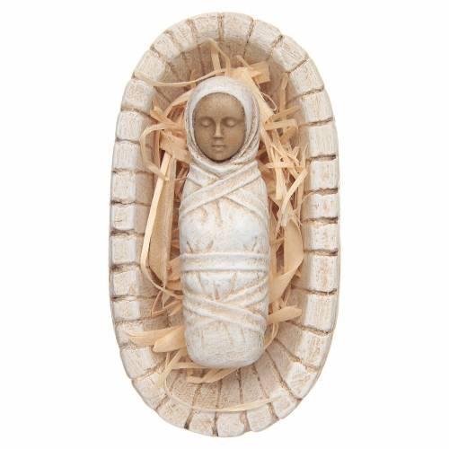 Enfant Jésus avec sa crèche - petite crèche s1