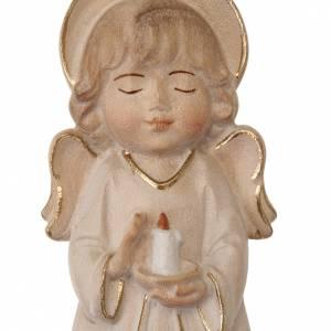 Schutzengel: Engel mit Kerze weiss gekleidet