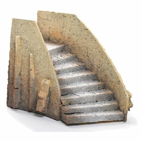 Escalier courbé crèche liège 13x18x11cm s1