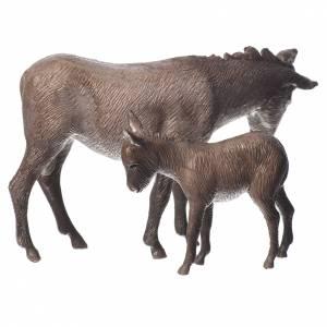 Krippe Moranduzzo: Esel und Dachbalken 8cm Moranduzzo