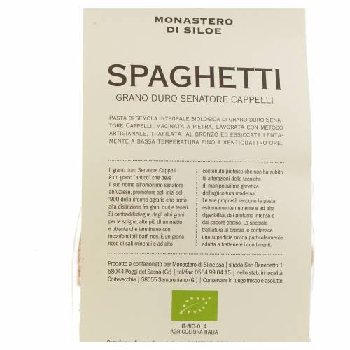 Espagueti grano duro Monasterio Siloe 250g s3