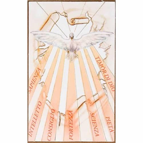 Estampa en madera Espíritu Santo con rayos s1