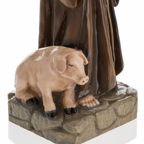 Estatua San Antonio Abad 35cm mármol sintético pin s3