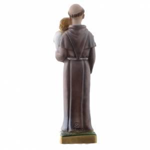 Estatua San Antonio de Padua 20 cm. yeso nacarado s4