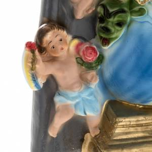 Estatua Virgen de los ángeles 30 cm. yeso s4