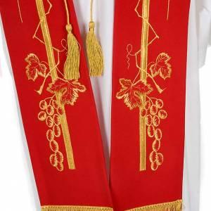 Estola litúrgica espiga uva dorada s7