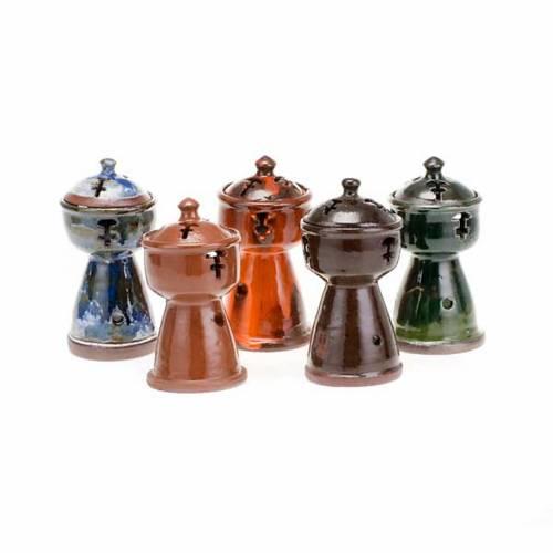 Ethiopian coloured incense-burner s1