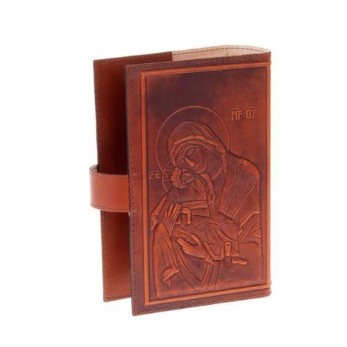 Étui 4 vol. cuir Christ Vierge avec Jésus s3