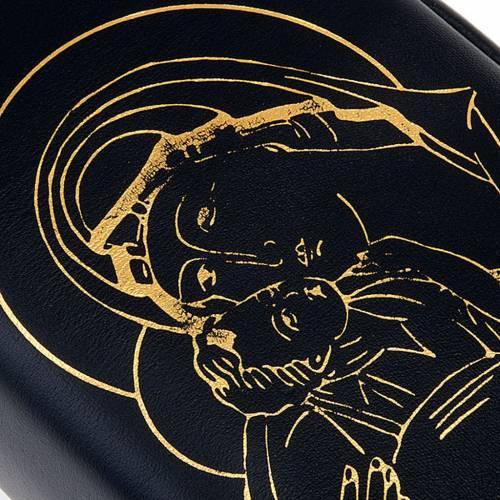 Etui volume unique cuir noir, Pantocrator, Vierge or s3
