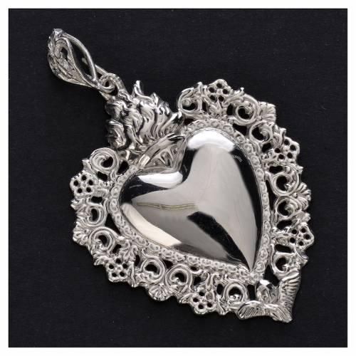 Ex-voto pendant silver 800 with decorated edge s2