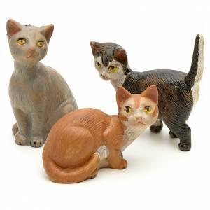 Animales para el pesebre: Familia de gatos cm 19 Fontanini