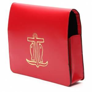 Couvertures pour rites: Farde pour partitions chants cuir rouge