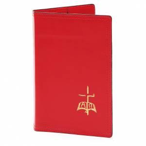 Couvertures pour rites: Farde pour rites A5 cuir véritable rouge
