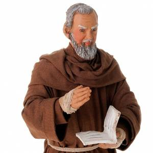Father Pius statue in clay 24 cm s3