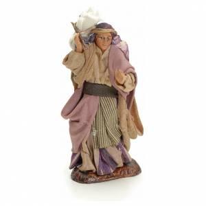 Femme arabe avec son sac crèche Napolitaine 8 cm s1