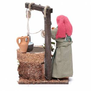 Femme au puits 10 cm santon crèche napolitaine s4
