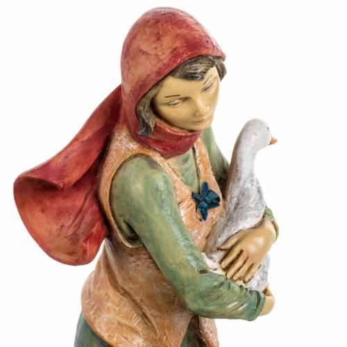 Femme avec chien crèche noel 52 cm Fontanini s6