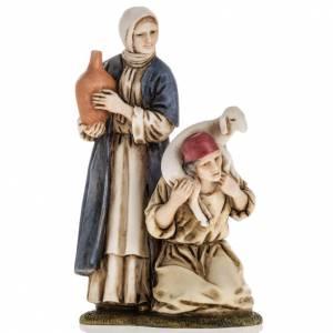 Femme et berger, santon crèche Moranduzzo 11 cm s1