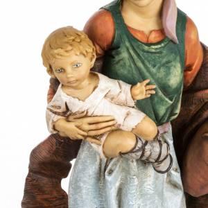 Femme et enfant crèche Fontanini 65 cm résine s2