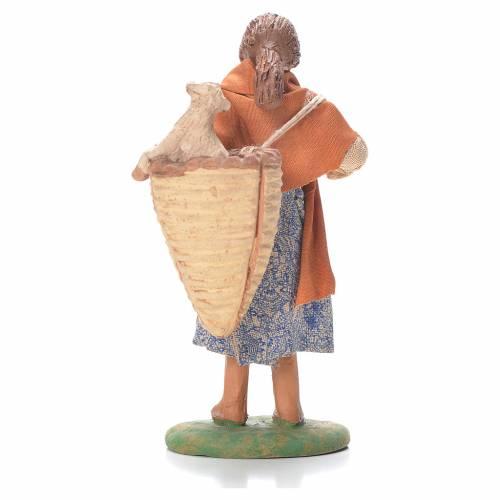 Femme panier et mouton derrière épaules 12 cm crèche napolitaine s2