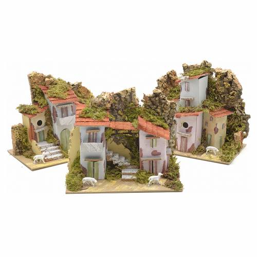 Ferme en miniature pour crèche 20x12 cm variée s4