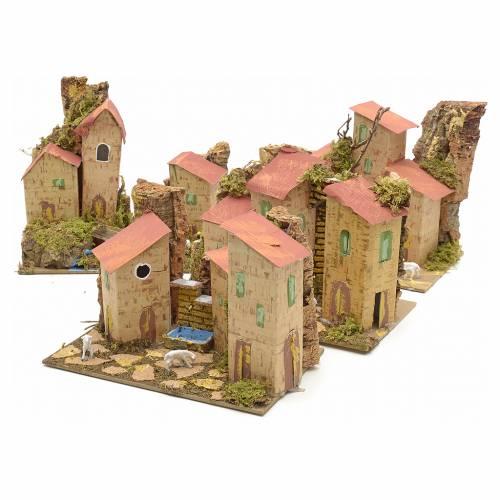 Ferme en miniature pour crèche 20x12 cm s6