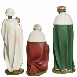 Fiberglas Statuen: Fiberglas Heilige drei Könige 60 cm