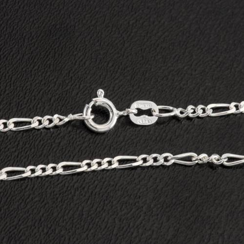 Figaro chain necklace in sterling silver 50cm s2