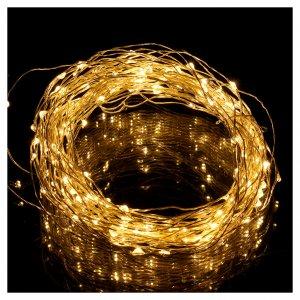 Filo luminoso 180 nano led bianco caldo solo uso interno s2