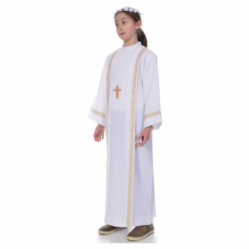First Communion alb, 2 golden hems s2