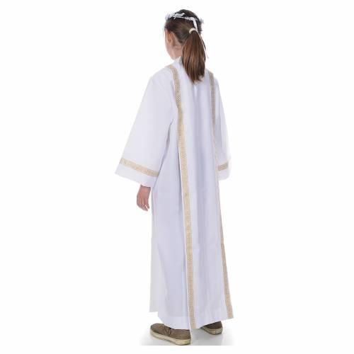 First Communion alb, 2 golden hems s3