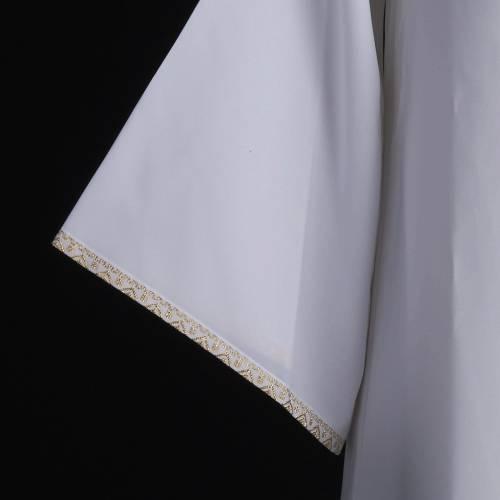 First communion alb for girl golden sleeves edge s7