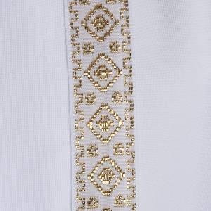 First communion alb for girl scapular thin golden edges s3