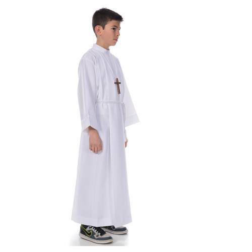 First communion alb with 4 pleats s4