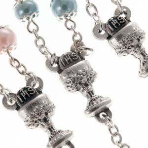 First Communion rosary with pearly beads (6 mm) s6