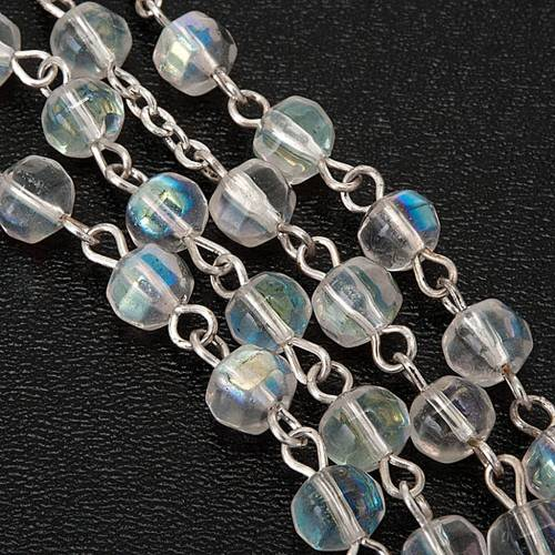 First Communion transparent beads rosary s2