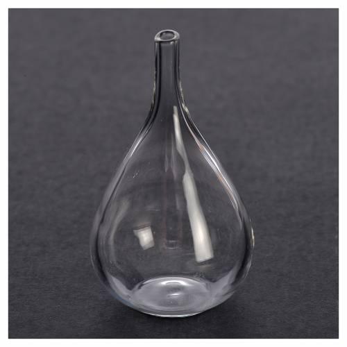 Flasque verre miniature crèche 3,3x2,2 cm s2