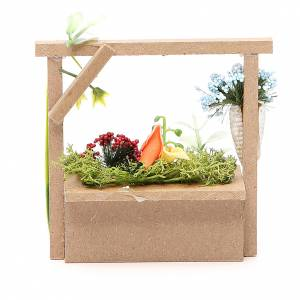 Florist stall for nativities measuring 10.5x11x4cm s2