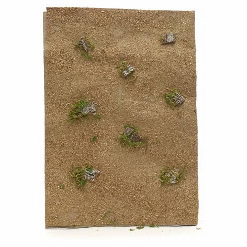 Foglio carta deserto presepe con rocce 70x50 cm s1