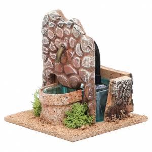 Fontaine crèche en terre cuite 13x12x12 cm s2