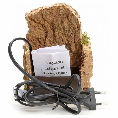 Fontana per presepio in sughero 13x13x13 cm s3