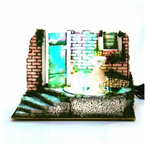 Fontane Presepe: Fontana presepe cm 22,5x33x18 con 4 led colorati.
