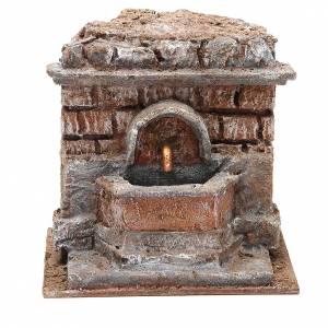 Fontana presepe elettrica con mattoni 18x16x16 cm s1
