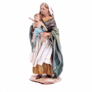 Krippenfiguren von Angela Tripi: Frau mit Kind 18cm Terrakotta, A. Tripi