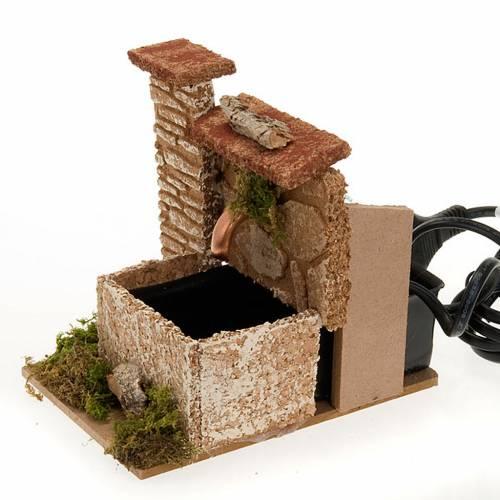 Fuente eléctrica para pesebre con pared de corcho 2,5 V s4