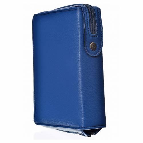 Funda Biblia CEE grande simil cuero azul S. Trinidad s2