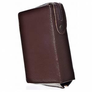 Fundas Biblia de Jerusalén Letra Grande: Funda Biblia Jerusalén Letra Grande ESPAÑA color marrón oscuro simil cuero Pantocrator